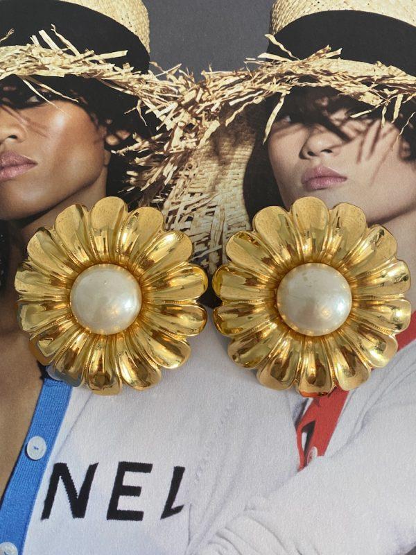 Chanel Daisy Earrings