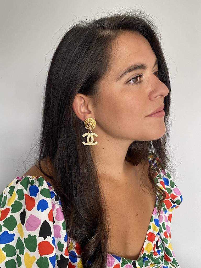 Chanel Crystal CC Earrings