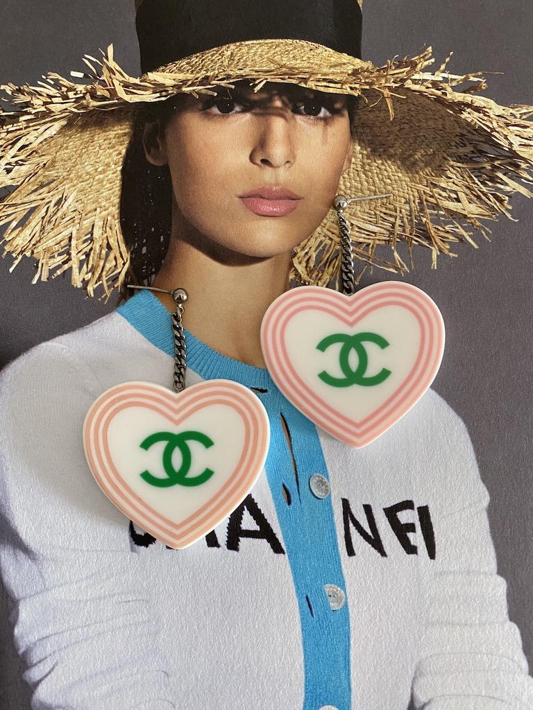 Chanel Heart Earrings