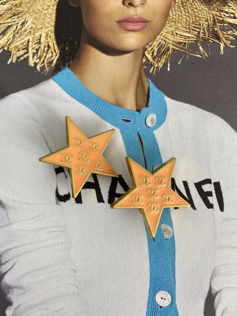 Chanel Star Earrings
