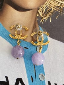 Chanel Lilac Earrings