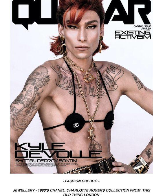 Kyle De'Volle Quazar Magazine