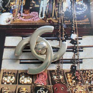 Chanel Silver Brooch