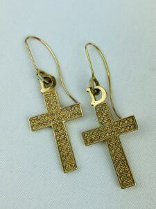 Dior Cross Earrings