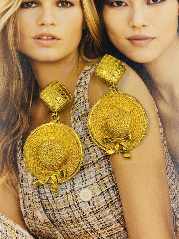 Chanel Hat Earrings
